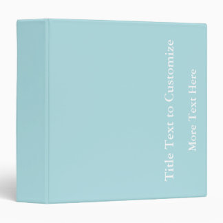 Powder Blue Solid Color Design (B0E0E6) Template Binder