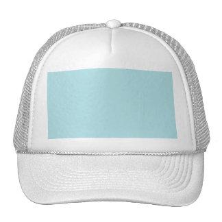 Powder Blue Solid Color Design (B0E0E6) Template Hat