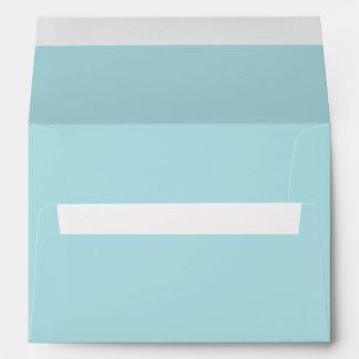 Powder Blue Solid Color Envelope