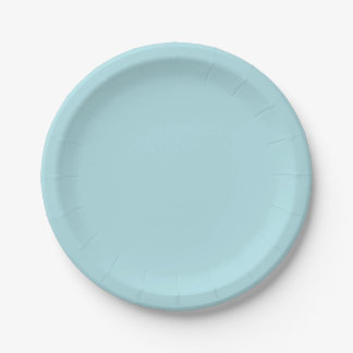 Powder Blue Solid Color Paper Plate
