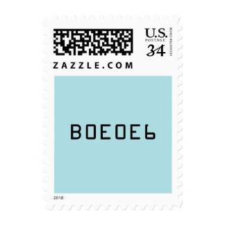 Powder Blue Solid Color with Hex Number B0E0E6 Stamp