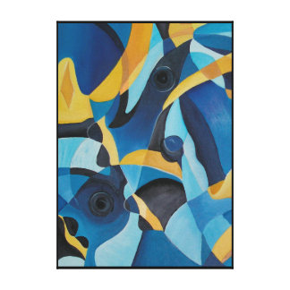 Powder Blue Tang Fish Canvas Print
