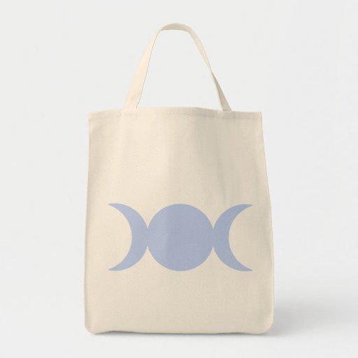 Powder Blue Triple Goddess Canvas Bag