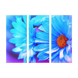 Powder Blue Triptych Canvas Print