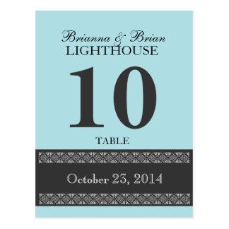 POWDER BLUE Wedding Table Number Card Reception