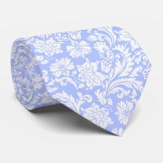 Powder Blue & White Vintage Floral Damasks Neck Tie