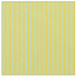 [ Thumbnail: Powder Blue & Yellow Colored Lines Fabric ]
