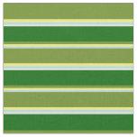 [ Thumbnail: Powder Blue, Yellow, Green, Dark Green & White Fabric ]