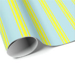 [ Thumbnail: Powder Blue & Yellow Pattern Wrapping Paper ]