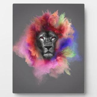 Powder Burst Lion Plaque