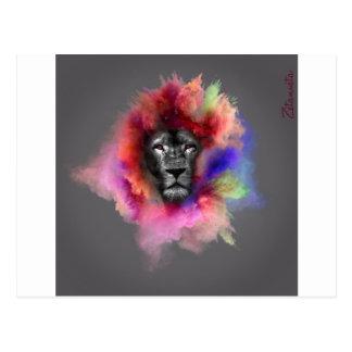 Powder Burst Lion Postcard