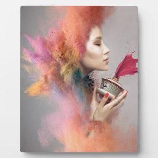 Powder Burst Portrait Plaque
