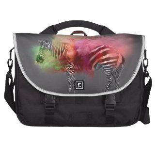 Powder Burst Zebra Laptop Commuter Bag