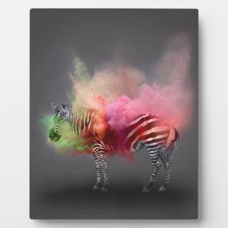 Powder Burst Zebra Plaque