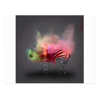Powder Burst Zebra Postcard