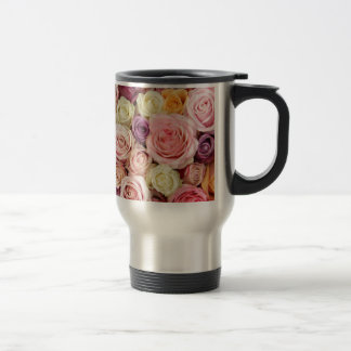 Powder colored roses by Therosegarden Coffee Mugs