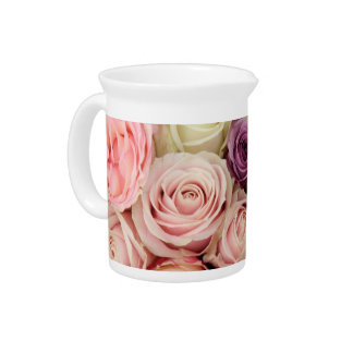 Powder colored roses by Therosegarden Beverage Pitchers