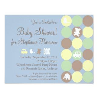 Powder Dots Baby Shower Invitation
