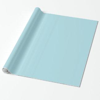 Powder Light Aqua Blue Solid Color Background Gift Wrap