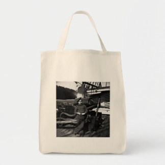 Powder Monkey USS New Hampshire 1865 Grocery Tote Bag