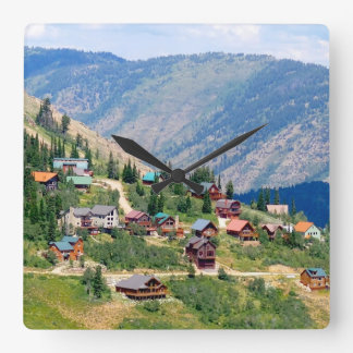 Powder Mountain Summertime: Homes on the Hill Square Wall Clock