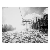 Powder on the Hill // Black and White Skilift