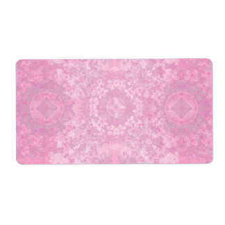 Powder Pink and White Muted Vintage Floral Theme Label