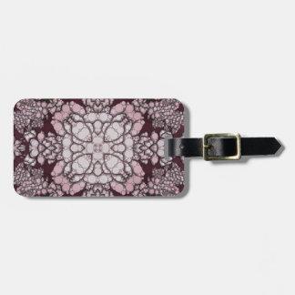 Powder Pink Black Abstract Bag Tag