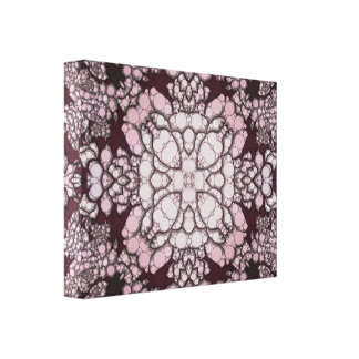 Powder Pink Black Abstract Canvas Print