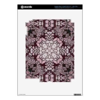Powder Pink Black Abstract Skin For iPad 3