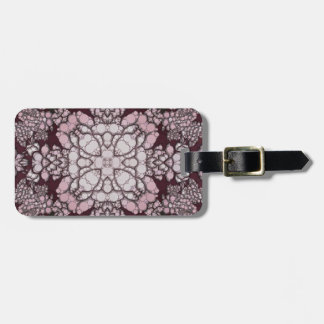 Powder Pink Black Abstract Tag For Luggage