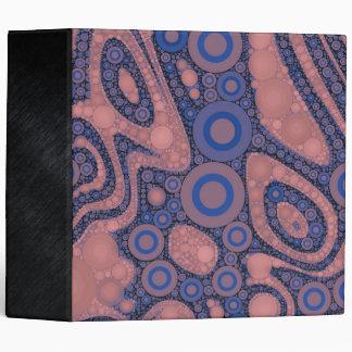 Powder Pink Blue Abstract 3 Ring Binder