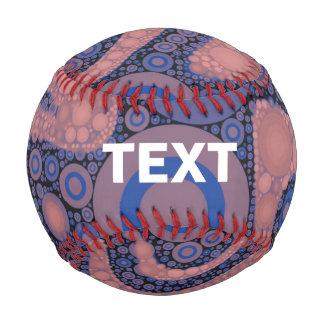 Powder Pink Blue Abstract Baseball