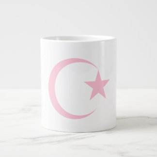 Powder Pink Crescent & Star.png Giant Coffee Mug