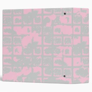 Powder Pink Grunge 3 Ring Binder