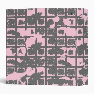 Powder Pink Grunge Binder