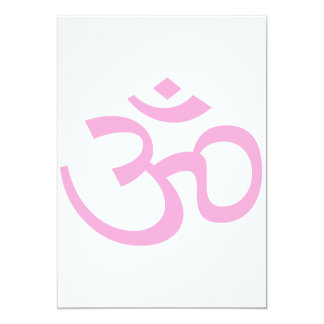 Powder Pink Om or Aum ॐ.png Card