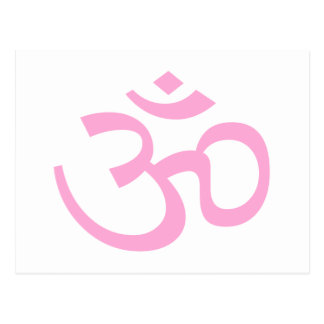 Powder Pink Om or Aum ॐ.png Post Cards