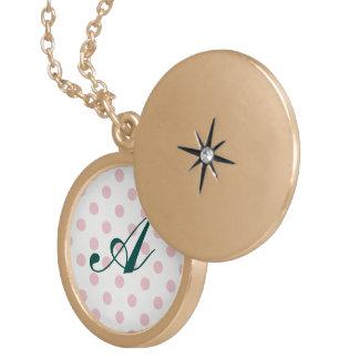 powder pink ,polka dot,white,cute,girly,trendy,fun locket
