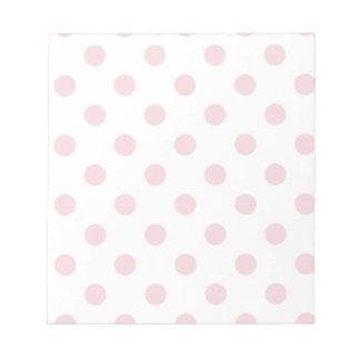 powder pink ,polka dot,white,cute,girly,trendy,fun memo notepads