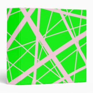 Powder Pink Random Stripes 3 Ring Binder