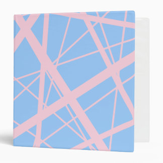 Powder Pink Random Stripes Binder