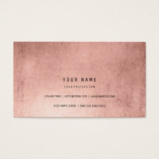 Powder Pink Rose Gold Faux Brush Vip Minimal Business Card