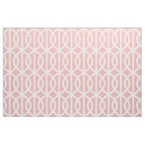 Powder Pink Trellis Pattern Fabric
