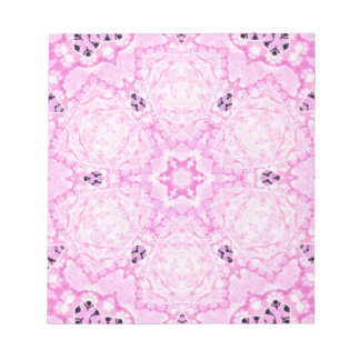 Powder Pink Zebra Grunge Memo Pad