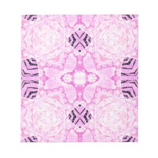 Powder Pink Zebra Grunge Memo Note Pad