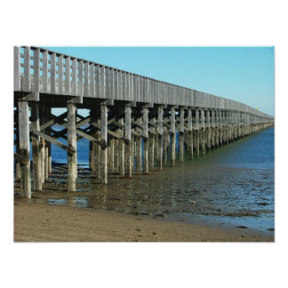 powder point bridge duxbury ma. wooden bridge poster