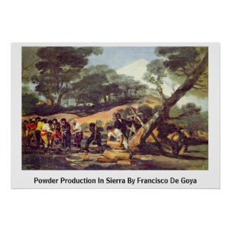 Powder Production In Sierra By Francisco De Goya Poster