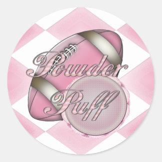 Powder Puff Football Classic Round Sticker