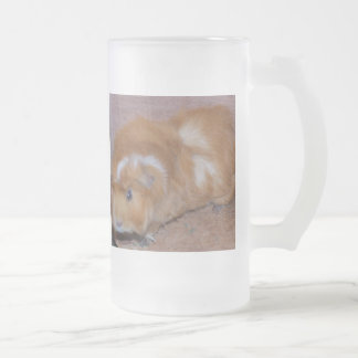 Powder-Puff Frosted Glass Beer Mug